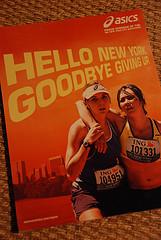 ASICS ad: Hello New York, Goodbye Giving Up.